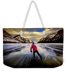 Skating Through The Mountains Weekender Tote Bag