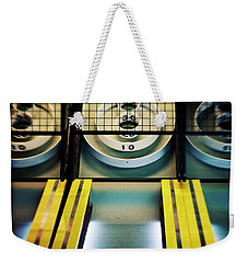 Weekender Tote Bag featuring the photograph Skeeball Arcade Photography by Melanie Alexandra Price