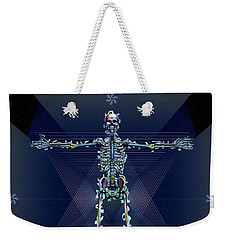 Weekender Tote Bag featuring the digital art Skeletal System by Iowan Stone-Flowers