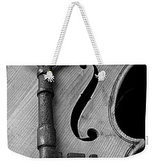 Skeleton Key On Violin Weekender Tote Bag by Garry Gay