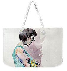Sketch For Ac-dc Weekender Tote Bag by Ray Agius