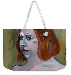 Sketch For Jessica I Weekender Tote Bag by Ray Agius