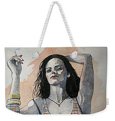 Sketch For Lucy Weekender Tote Bag by Ray Agius