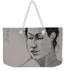 Sketch For Marie 2 Weekender Tote Bag by Ray Agius