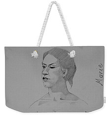 Sketch For Marie Seated Weekender Tote Bag by Ray Agius