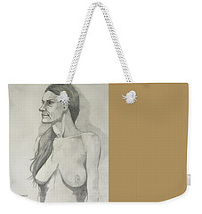Sketch Mary Lying Weekender Tote Bag