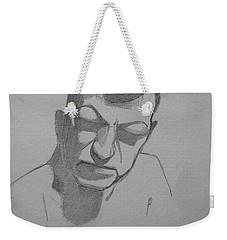 Sketch For Rik Weekender Tote Bag by Ray Agius