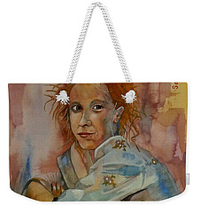 Weekender Tote Bag featuring the painting Sketch For Sarah by Ray Agius