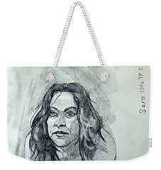 Sketch For Sera.10.01 Weekender Tote Bag by Ray Agius