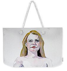 Sketch Mary Leaning Weekender Tote Bag