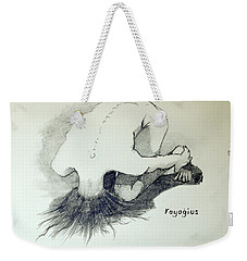 Weekender Tote Bag featuring the painting Sketch Of Sera.10.03 by Ray Agius