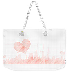 Sketch Of The City Skyline Weekender Tote Bag
