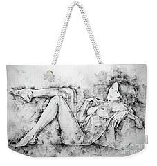 Sketchbook Page 46 Drawing Woman Classical Sitting Pose Weekender Tote Bag