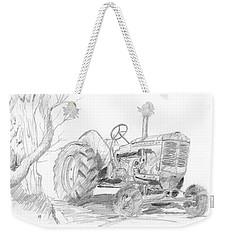 Sketchy Tractor Weekender Tote Bag