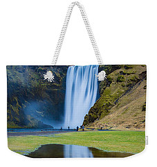 Weekender Tote Bag featuring the photograph Skogafoss 2 by Mariusz Czajkowski