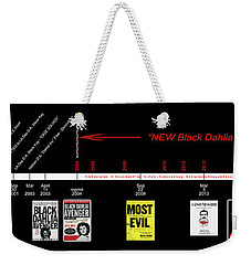 Skh Black Dahlia Inv. Time Line Weekender Tote Bag