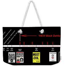 Skh Black Dahlia Inv. Time Line Weekender Tote Bag