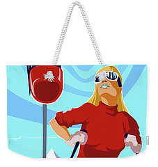 Ski Bunny Retro Ski Poster Weekender Tote Bag