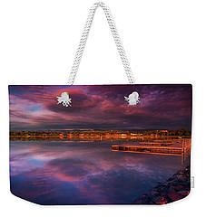 Skies Of Golden Hour Weekender Tote Bag