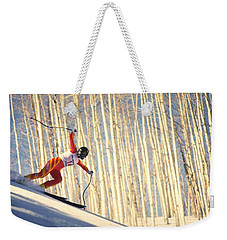 Skiing In Aspen, Colorado Weekender Tote Bag