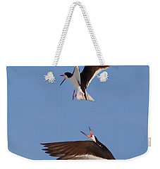 Skimmers In Flight Weekender Tote Bag