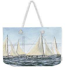 Skipjacks Racing Chesapeake Bay Maryland Detail Weekender Tote Bag