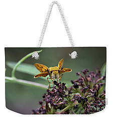 Weekender Tote Bag featuring the photograph Skipper II by Douglas Stucky