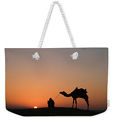 Skn 0870 Silhouette At Sunrise Weekender Tote Bag