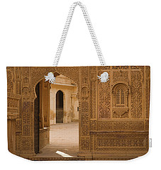 Skn 1317 Threshold Of Carvings Weekender Tote Bag