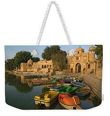 Skn 1391 A Visit To Gadisar Lake Weekender Tote Bag by Sunil Kapadia