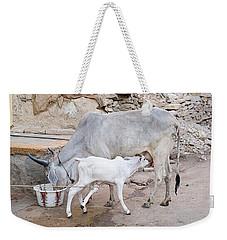 Skn 1654 Feeding Time Weekender Tote Bag by Sunil Kapadia