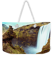 Weekender Tote Bag featuring the photograph Skogafoss by Mariusz Czajkowski