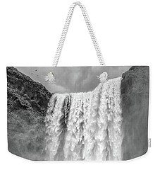 Weekender Tote Bag featuring the photograph Skogafoss Waterfall Iceland by Edward Fielding