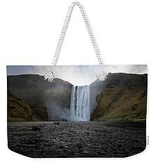 Skogafoss Waterfall In Iceland Weekender Tote Bag