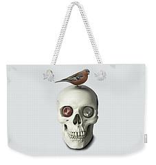 Skull And Bird Weekender Tote Bag