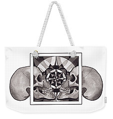 Skull Mandala Series Nr 1 Weekender Tote Bag by Deadcharming Art
