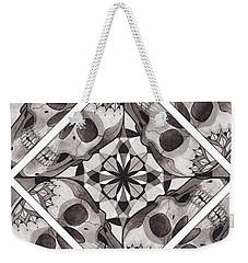 Skull Mandala Series Number Two Weekender Tote Bag by Deadcharming Art