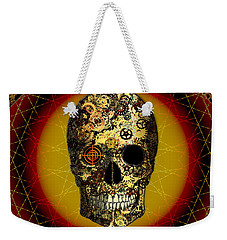 Weekender Tote Bag featuring the digital art Skullgear by Iowan Stone-Flowers