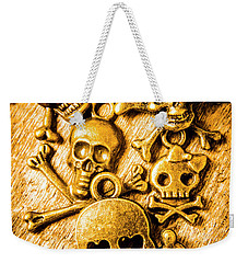 Weekender Tote Bag featuring the photograph Skulls And Crossbones by Jorgo Photography - Wall Art Gallery