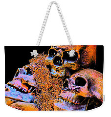 Skulls Weekender Tote Bag by Annie Zeno