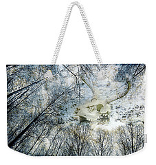Weekender Tote Bag featuring the photograph Skully Dreams Of Beach And Trees by Ronda Broatch