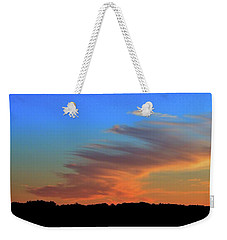 Weekender Tote Bag featuring the photograph Sky And Cloud At Sunset Three  by Lyle Crump