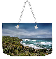 Weekender Tote Bag featuring the photograph Sky Blue Coast by Perry Webster