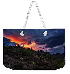Weekender Tote Bag featuring the photograph Sky Candy by Rick Furmanek