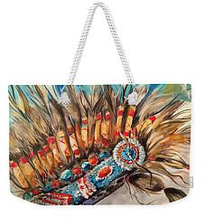 Sky Feather Detail Weekender Tote Bag