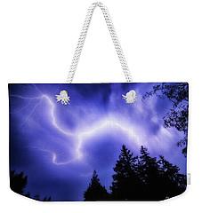 Sky Lightning Weekender Tote Bag