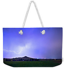 Weekender Tote Bag featuring the photograph Sky Monster Above Haystack Mountain by James BO Insogna