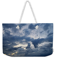 Weekender Tote Bag featuring the photograph Sky Moods - Happenings by Glenn McCarthy Art and Photography
