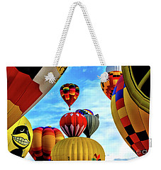 Weekender Tote Bag featuring the photograph Sky Of Balloons by Gina Savage