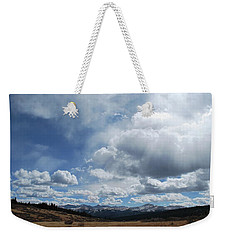 Weekender Tote Bag featuring the photograph Sky Of Shrine Ridge Trail by Amee Cave